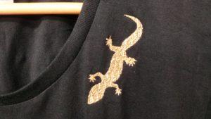トカゲ刺繍